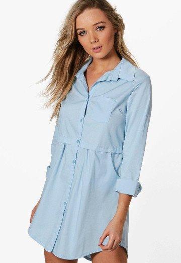 robe-chemise-bleu-pastel