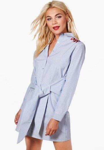 robe-chemise-ceinture