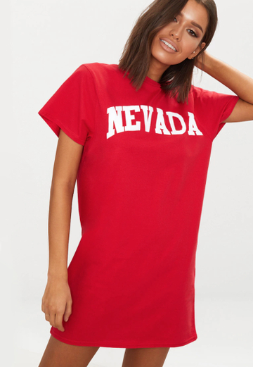 Robe Nevada Rouge Prettylittlethings Lenaelle