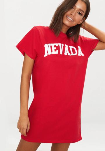 Robe Nevada Rouge Prettylittlethings Lenaelle