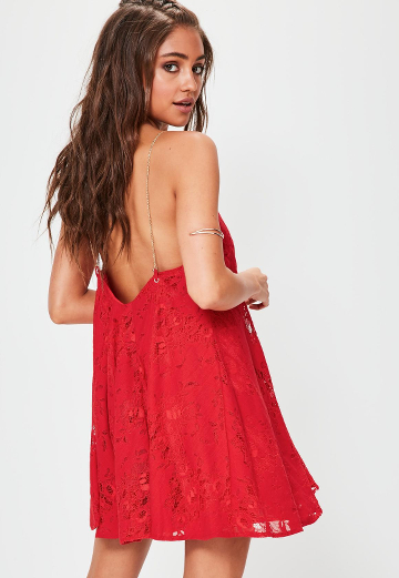 Robe Rouge Dentelle Missguided Lenaelle